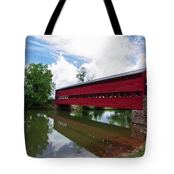 Tote Bag featuring the photograph Sachs Bridge by Photography by Laura Lee