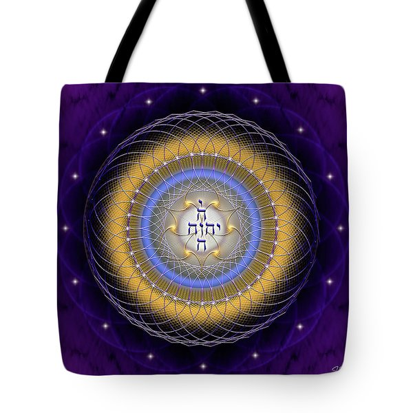 Tote Bag featuring the digital art Sacred Geometry 727 by Endre Balogh