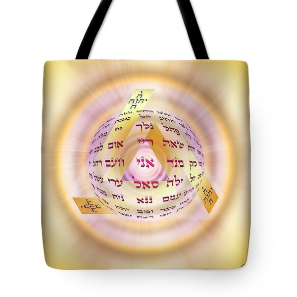 Tote Bag featuring the digital art Sacred Geometry 728 by Endre Balogh
