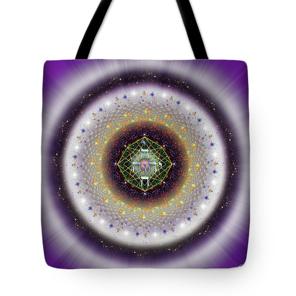 Tote Bag featuring the digital art Sacred Geometry 729 by Endre Balogh