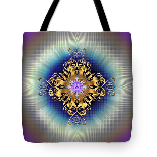 Tote Bag featuring the digital art Sacred Geometry 730 by Endre Balogh