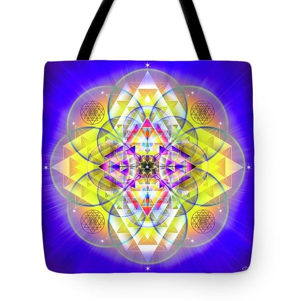 Tote Bag featuring the digital art Sacred Geometry 731 by Endre Balogh