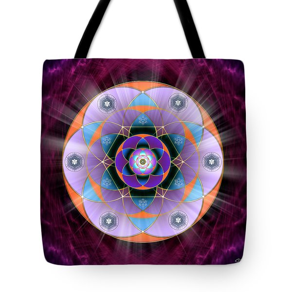 Tote Bag featuring the digital art Sacred Geometry 733 by Endre Balogh