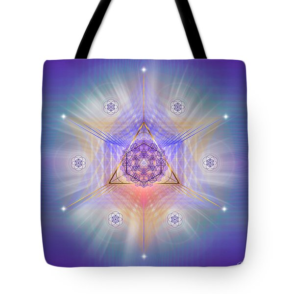 Tote Bag featuring the digital art Sacred Geometry 734 by Endre Balogh
