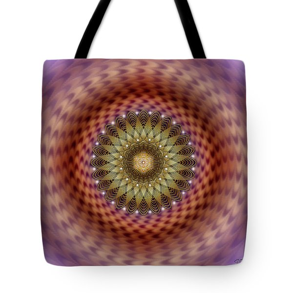 Tote Bag featuring the digital art Sacred Geometry 735 by Endre Balogh