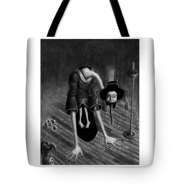 Tote Bag featuring the drawing Sacrificed Concubine Ghost - Artwork by Ryan Nieves