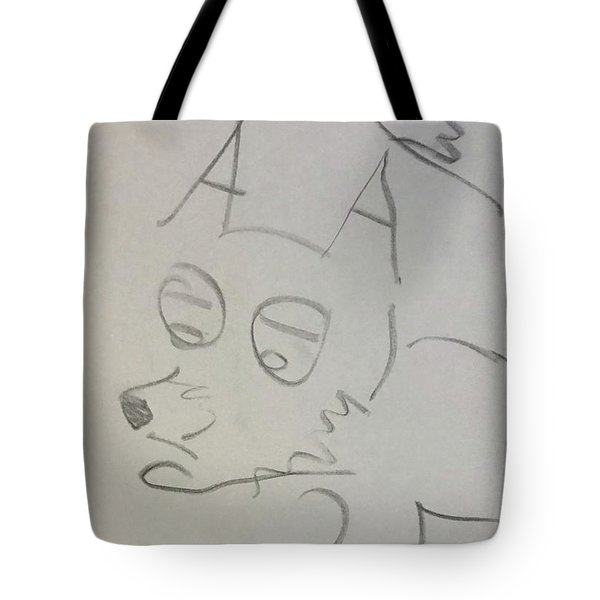 Sad Fox Sketch Tote Bag