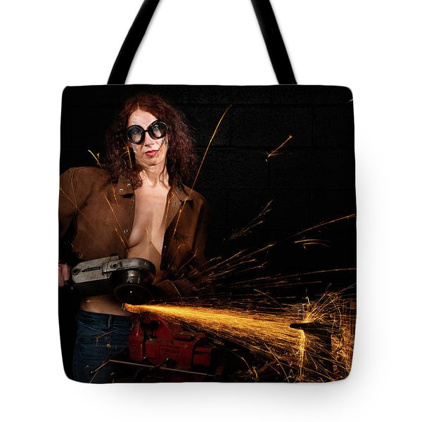 Tote Bag featuring the photograph Light Em Up by Dennis Dame
