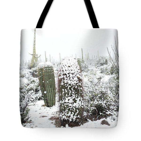 Saguaro In The Snow Tote Bag