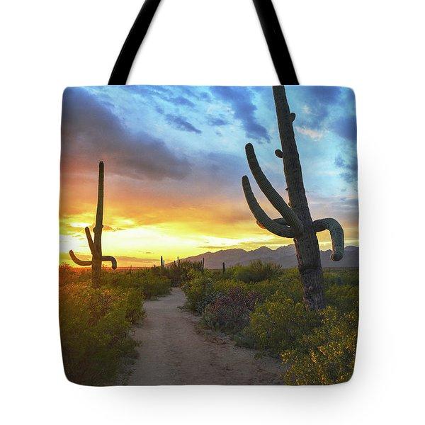 Saguaro Trail Tote Bag