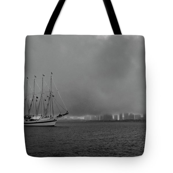 Sail In The Fog Tote Bag