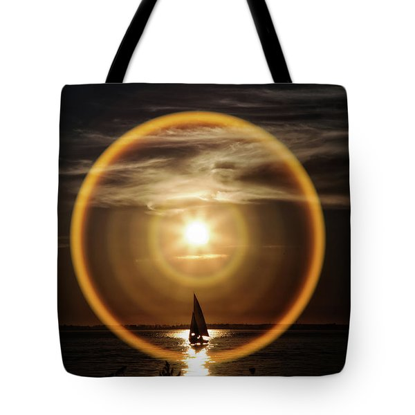 Sail In The Halo Tote Bag