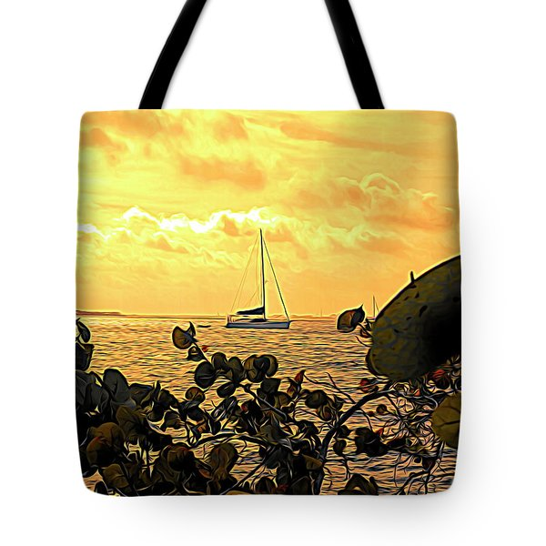 Sail The Manatee River Tote Bag