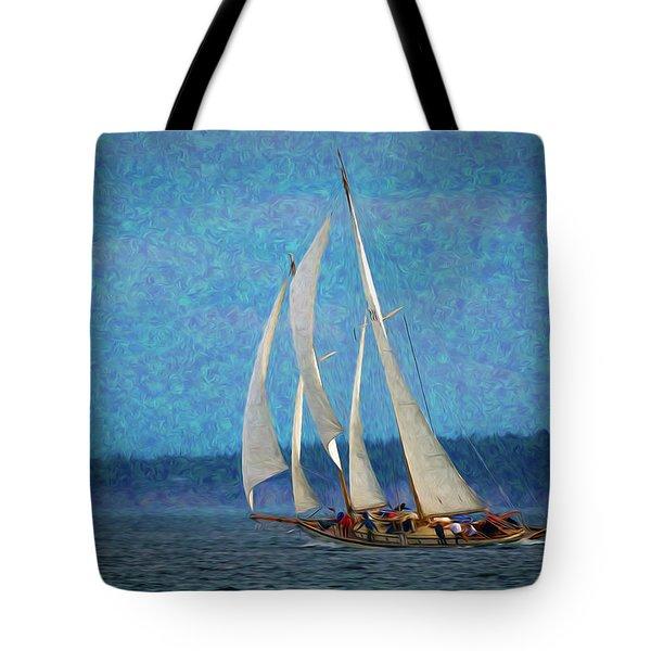 Sailboat Painting 16 Tote Bag