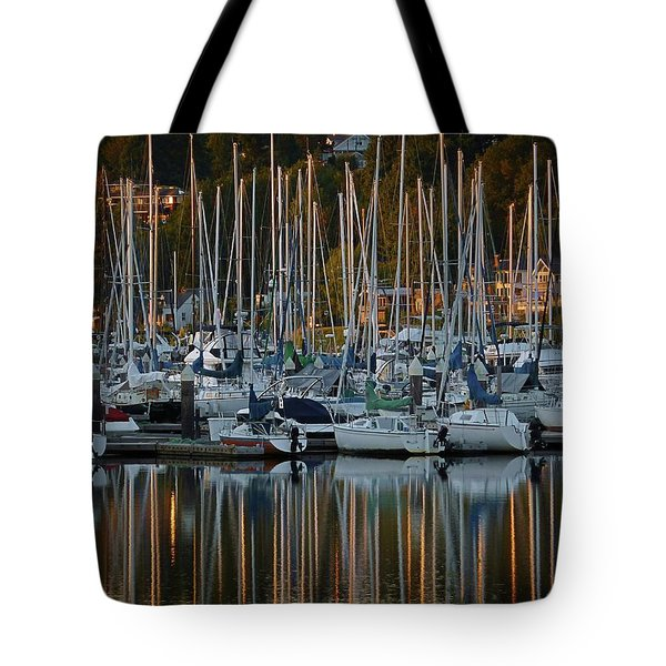 Tote Bag featuring the photograph Sailboat Reflections by Patricia Strand