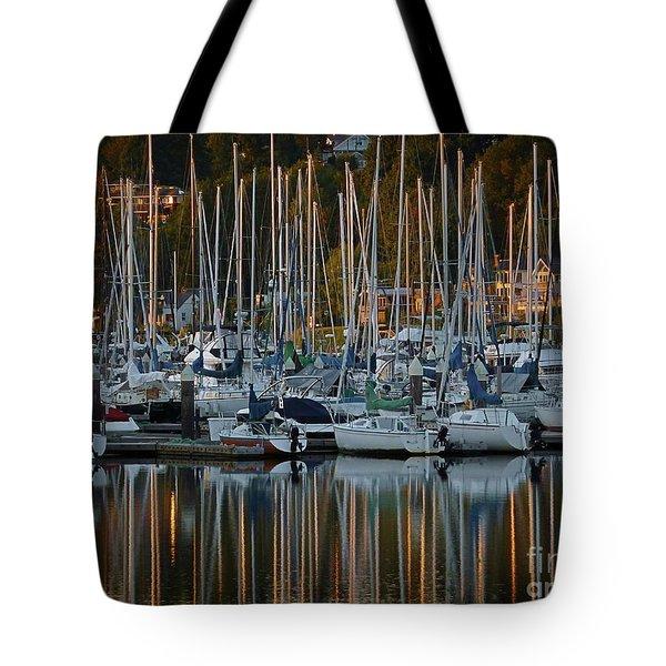Sailboat Reflections Tote Bag