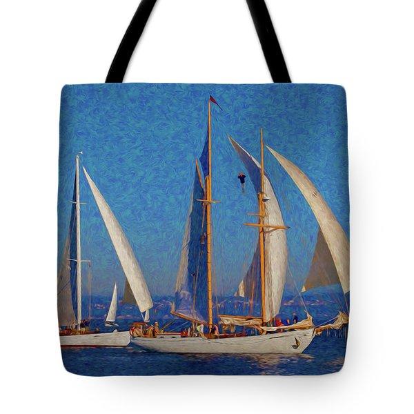 Sailboats 17 Tote Bag