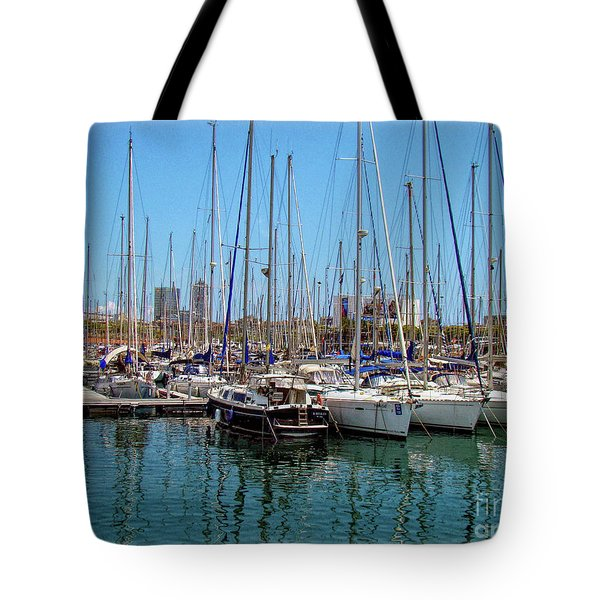 Sailboats Galore Tote Bag
