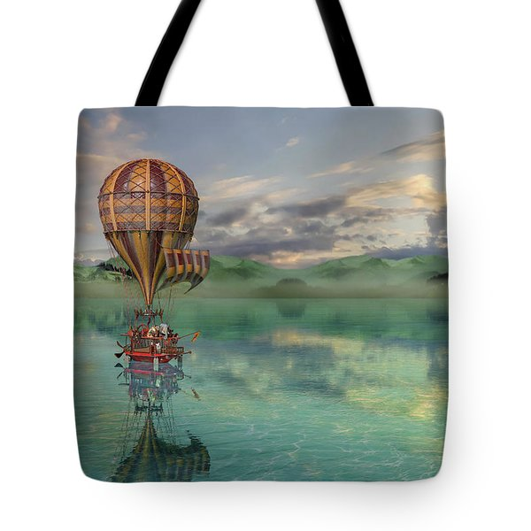 Sailing Away Daydream Steampunk Tote Bag