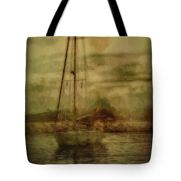 Tote Bag featuring the photograph Sailing by Leigh Kemp