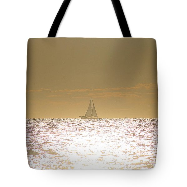 Tote Bag featuring the photograph Sailing On Sunshine by Robert Banach