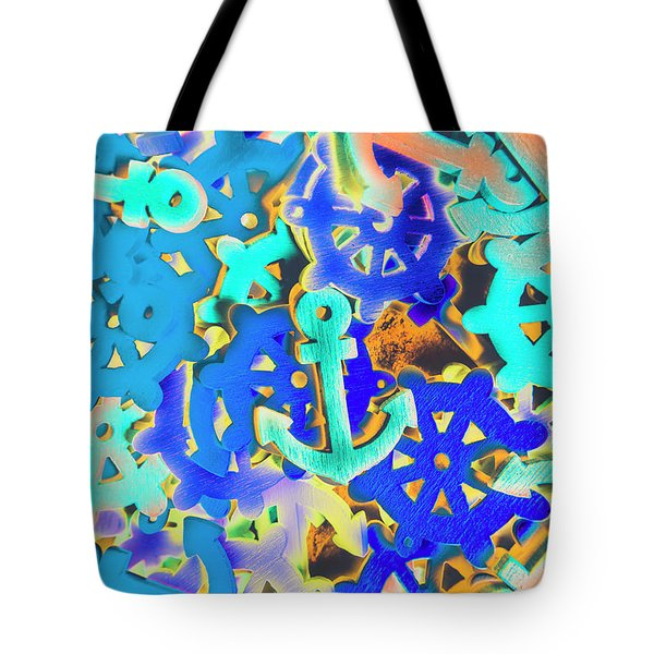 Sailing Pop Art Tote Bag