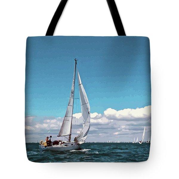 Sailing Regatta On A Brisk Summer's Day Tote Bag