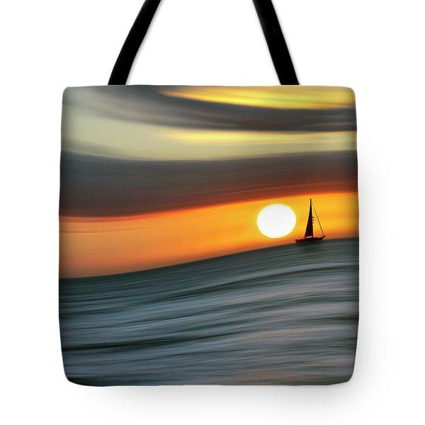 Sailing To The Sunset Tote Bag