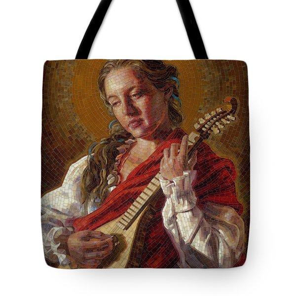 Saint Cecelia Mosaic Tote Bag