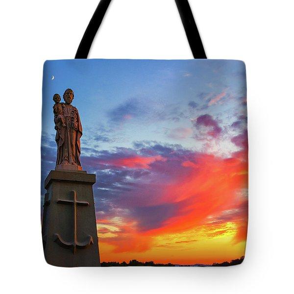 Saint Joseph Sunset  Tote Bag