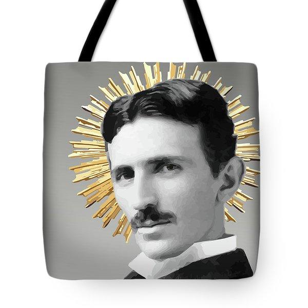 Saint Nikola Tesla Tote Bag