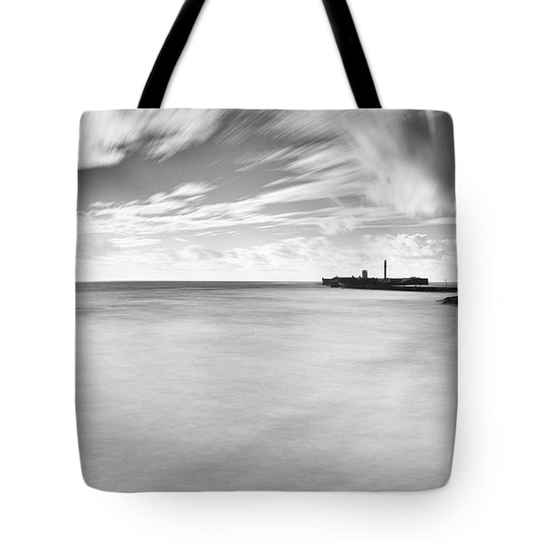 Tote Bag featuring the photograph Saint Sebastian Castle Long Exposure Cadiz Spain by Pablo Avanzini