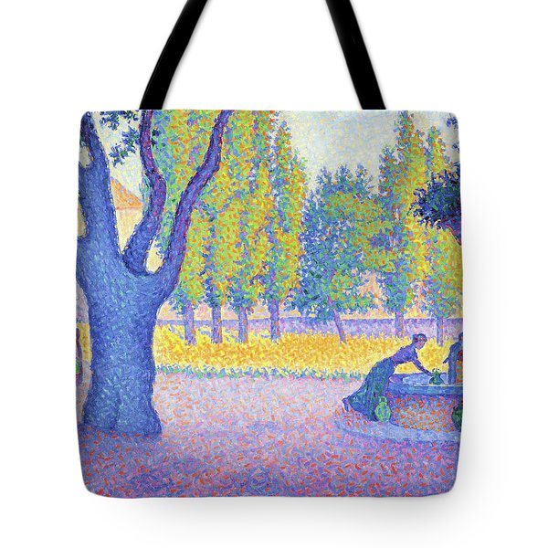 Saint-tropez, Fountain Of The Lices - Digital Remastered Edition Tote Bag