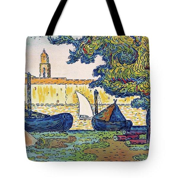 Saint-tropez, The Port Of St. Tropez - Digital Remastered Edition Tote Bag