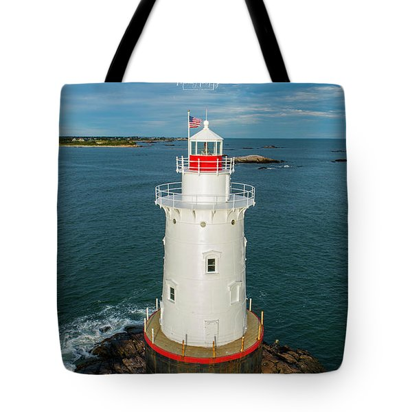 Tote Bag featuring the photograph Sakonnet Light  by Michael Hughes