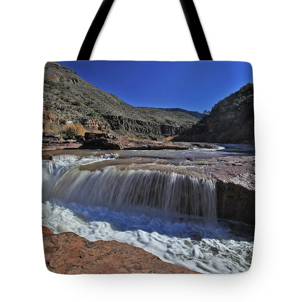 Salt Falls Tote Bag