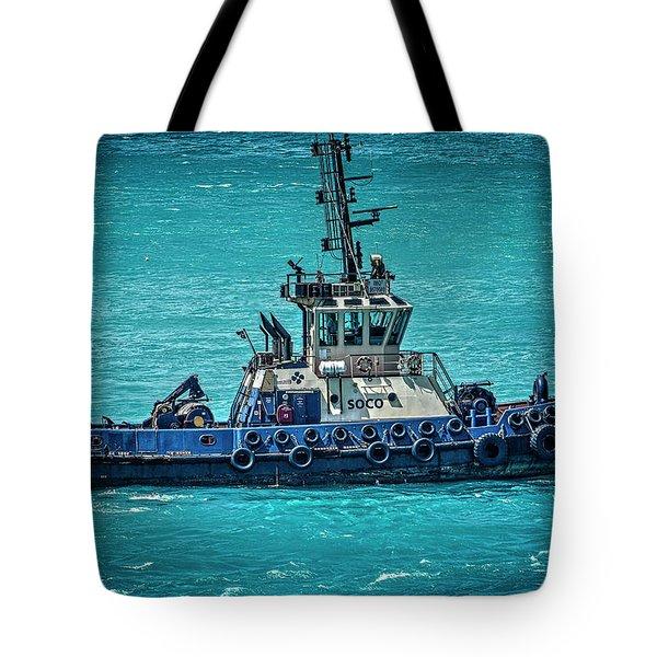 Salvage Tug Boat Tote Bag