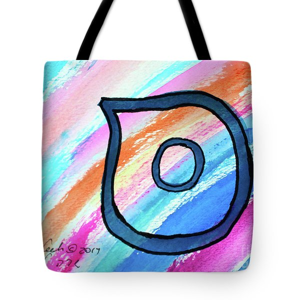 Tote Bag featuring the painting Samech In Blue S3 by Hebrewletters Sl