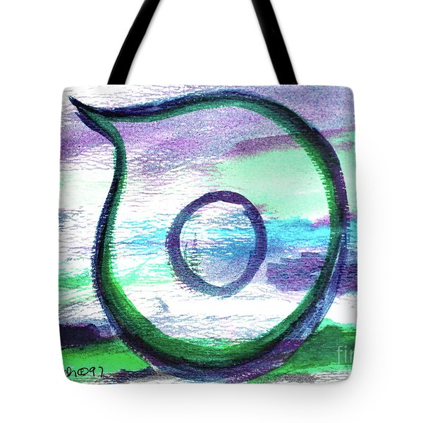 Tote Bag featuring the painting Samech In Purple S1 by Hebrewletters Sl