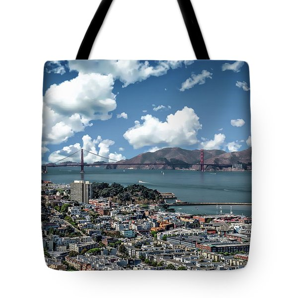 Tote Bag featuring the photograph San Francisco Bay Area by Anthony Dezenzio