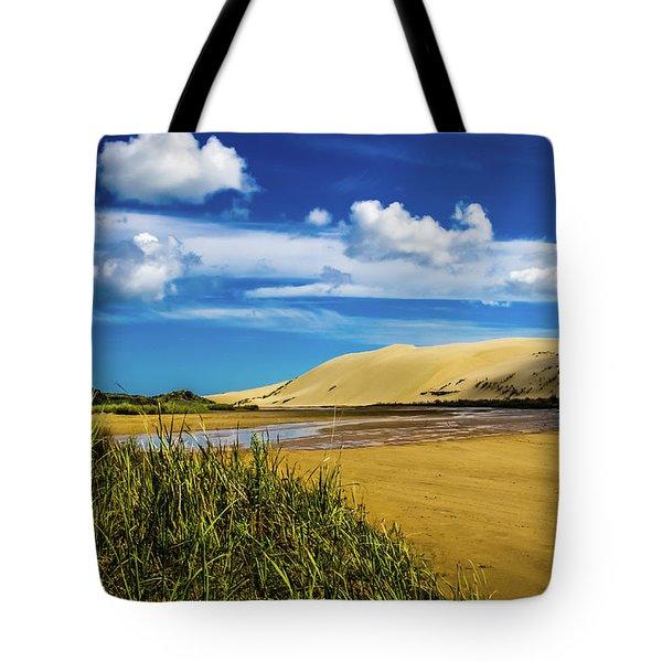 90 Miles Beach, New Zealand Tote Bag