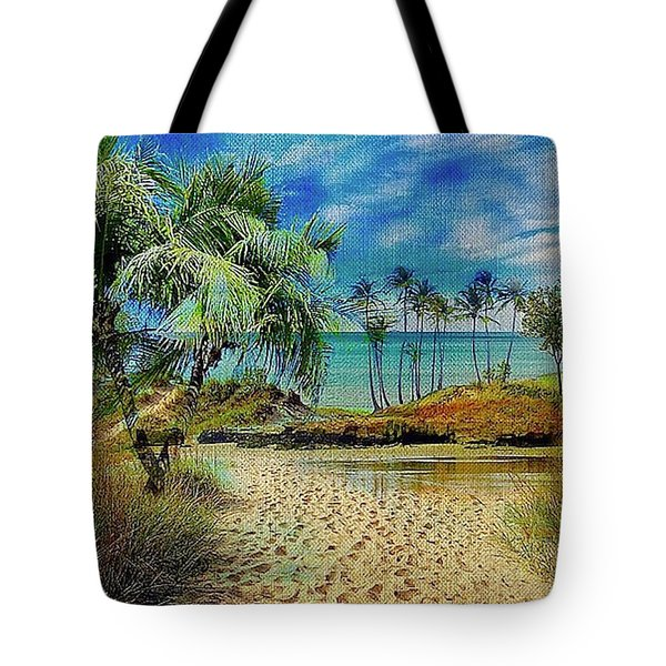 Sand To The Shore Montage Tote Bag