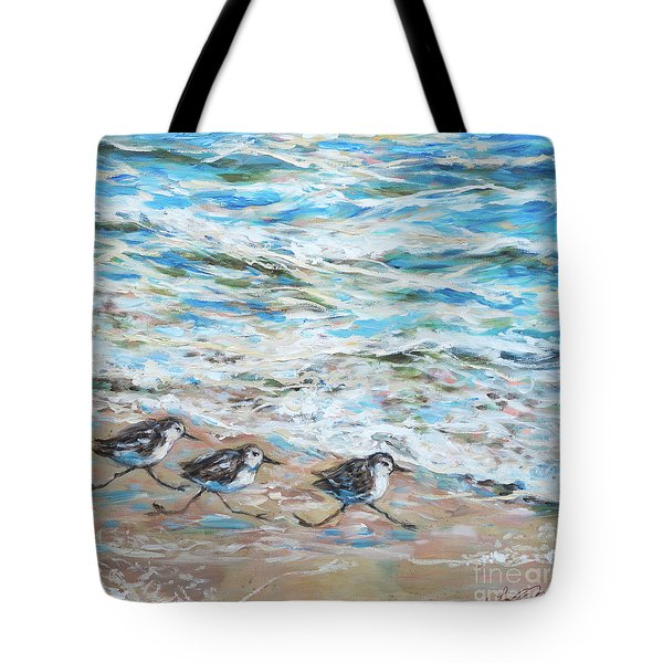 Sanderlings Running Tote Bag