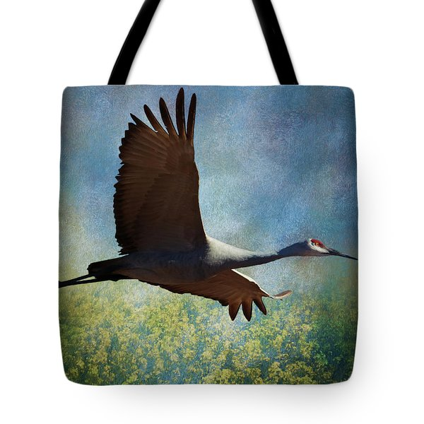 Sandhill Crane Art Tote Bag