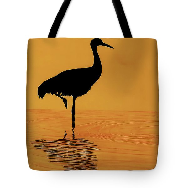 Sandhill - Crane - Sunset Tote Bag