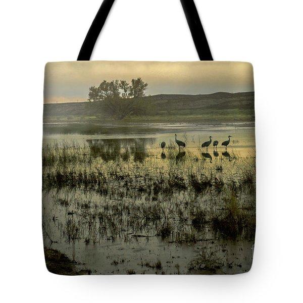 Sandhill Serenity Tote Bag