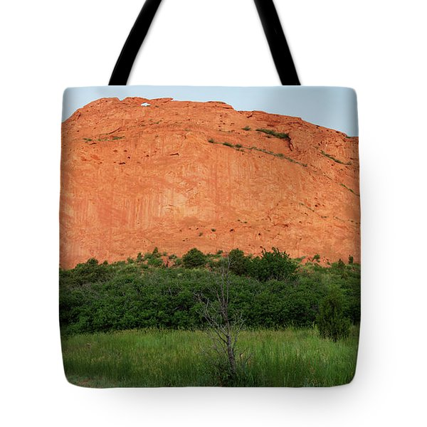 Sandstone Rock Formation Called The Kissing Camels In Colorado Tote Bag