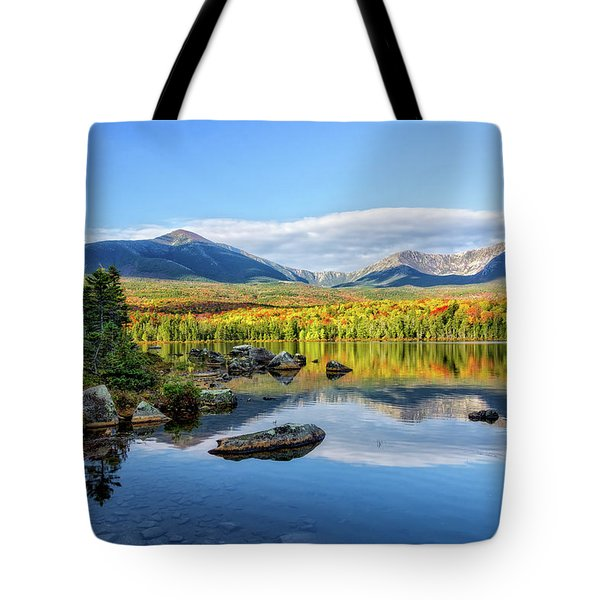 Tote Bag featuring the photograph Sandy Stream Pond Baxter Sp Maine by Michael Hubley