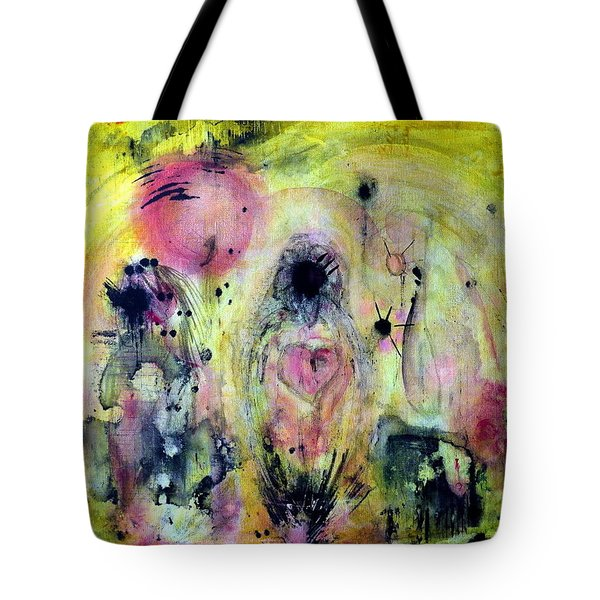 Tote Bag featuring the painting Sanguine by 'REA' Gallery