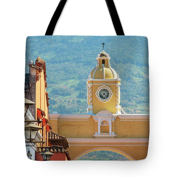 Tote Bag featuring the photograph Santa Catalina Arch Antigua Guatemala by Tim Hester